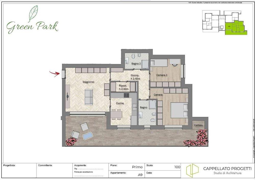 Pronto Immobili - Piantina Cantiere Green Park San Donato